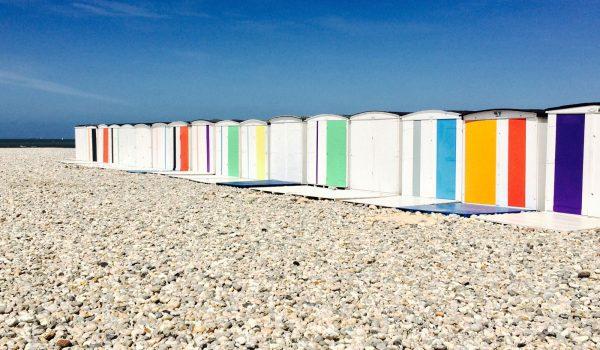 Cabine de plage en Normandie
