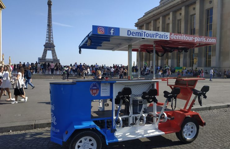 BeerBike Demi Tour Paris Tour Eiffel